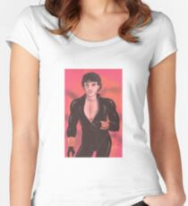 Hannibal - Will Graham as Black Widow Women's Fitted Scoop T-Shirt