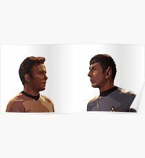 Kirk + Spock | Star Trek Poster