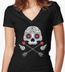 Cupido Women's Fitted V-Neck T-Shirt