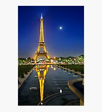 The Eiffel Tower reflected Photographic Print