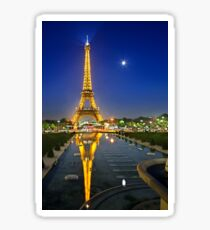 The Eiffel Tower reflected Sticker