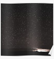 Stars and Space Night Sky - Black and White Galaxy Wall Tapestry Poster