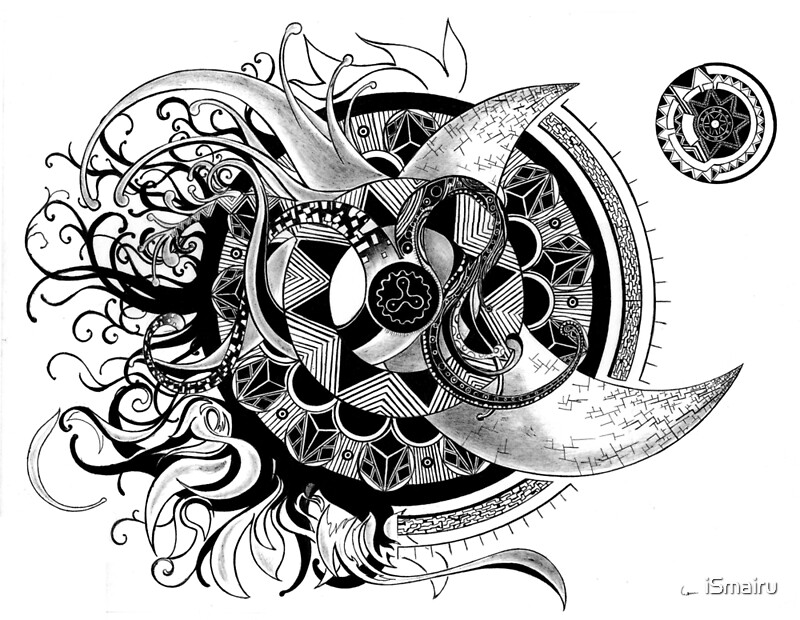 Quot Conception Of Time Abstract Mandala Drawing Quot Art Prints