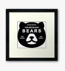 Protect Big Black Bears Brown Grizzly Save Framed Print