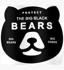 Protect Big Black Bears Brown Grizzly Save Poster