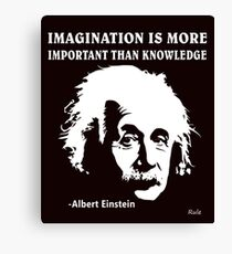 Lienzo Rule Albert Einstein T-Shirt Imagination Is More Important Than Knowledge