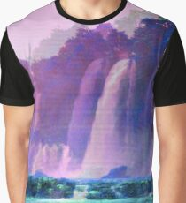 Purple Waterfall  Graphic T-Shirt