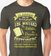 Blessed Are The Weird People The Writers Artists Tshirt T-Shirt