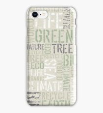 Ecology Words iPhone Case/Skin