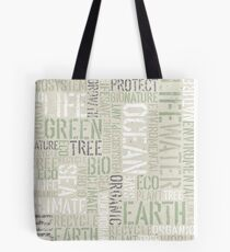 Ecology Words Tote Bag