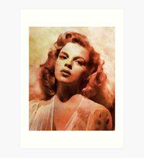 Judy Garland, Vintage Hollywood Actress Art Print