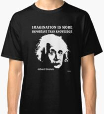 Camiseta clásica Rule Albert Einstein T-Shirt Imagination Is More Important Than Knowledge