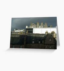 Moody Aberdeen Rooftops - Storm Clouds and Multi-flue Chimneys Greeting Card