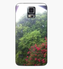 Sun Shower, Trees, Bougainvillea Tree,  Case/Skin for Samsung Galaxy