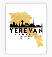 YEREVAN ARMENIA SILHOUETTE SKYLINE MAP ART Sticker
