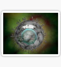 Influenza virus, glassy look. Sticker