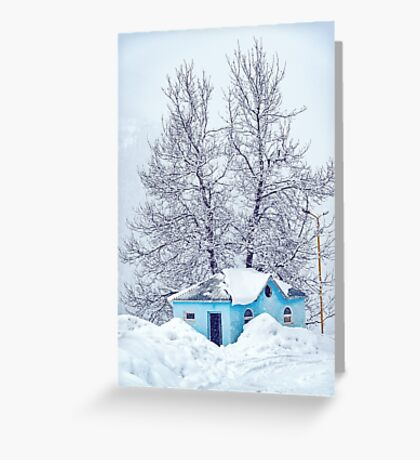Little Blue House Greeting Card