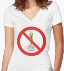 Not stinks of garlic. Women's Fitted V-Neck T-Shirt