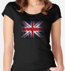 Union Flag - Union Jack - Patriotic Flag Women's Fitted Scoop T-Shirt