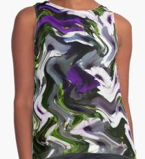 Petunias in Abstract Contrast Tank