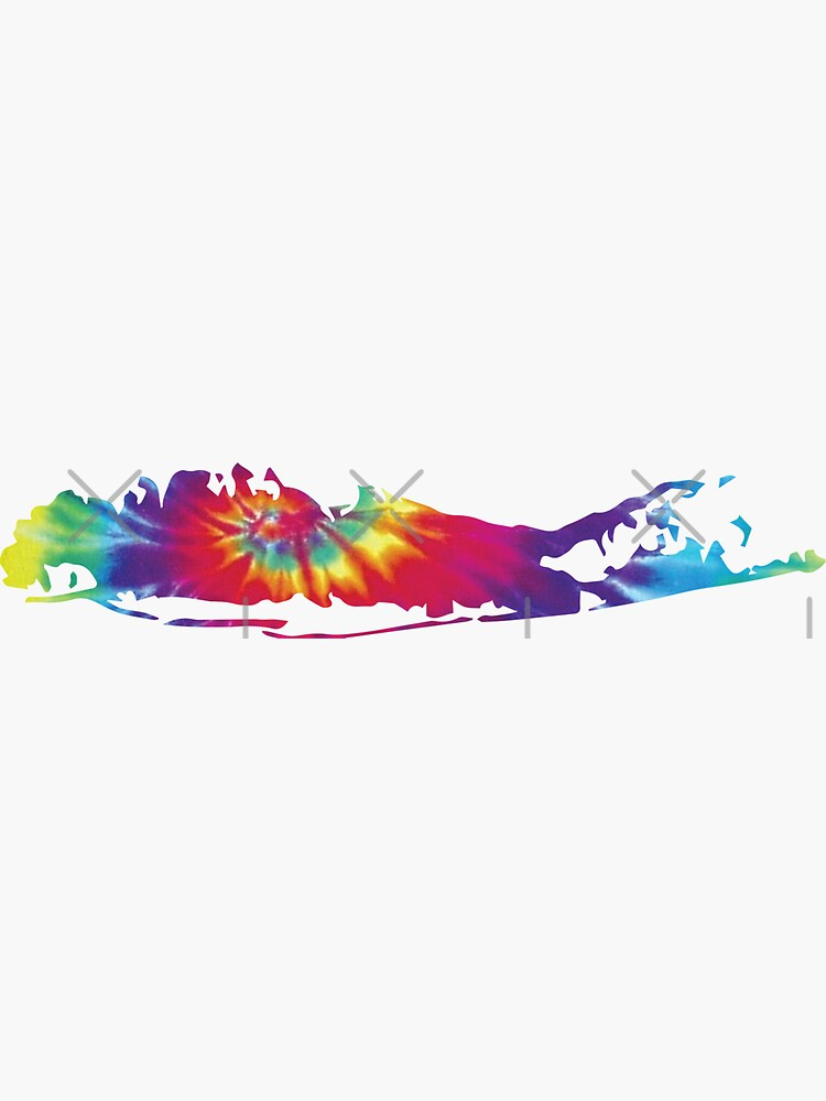 Long Island Tie Dye Silhouette von Designs111