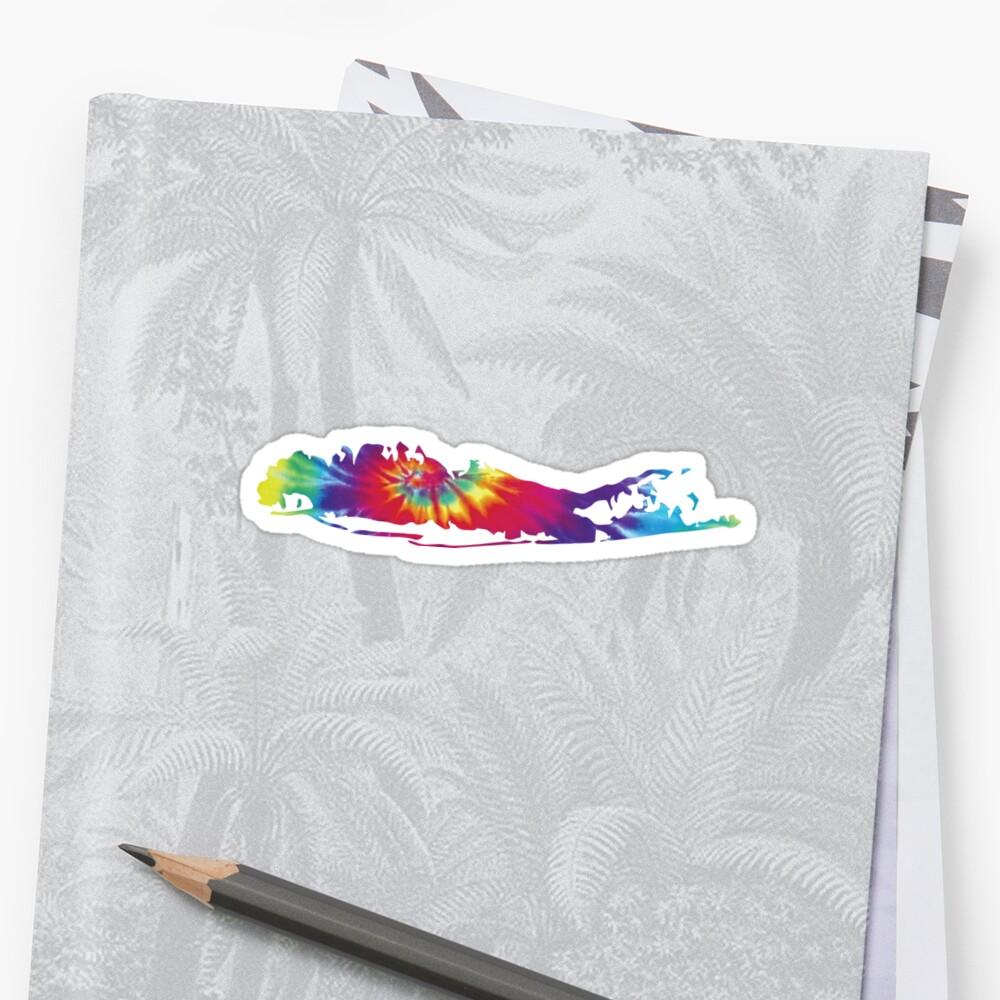 Long Island Tie Dye Silhouette Sticker