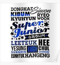 Póster SUPER JUNIOR Font Collage