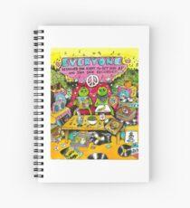 Peace sticker Spiral Notebook