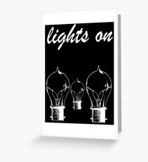 lights on shawn mendes white Greeting Card