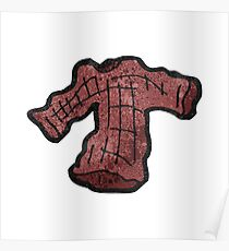 cartoon knitted jumper Poster