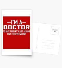 Doctor Assume Postcards