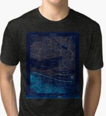 USGS TOPO Map California CA Honker Bay 296168 1918 31680 geo Inverted Tri-blend T-Shirt
