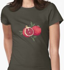 Juicy pomegranate fruits Women's Fitted T-Shirt