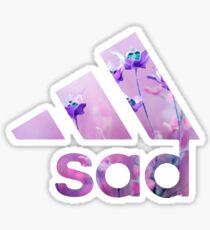 sad - white version - Sticker