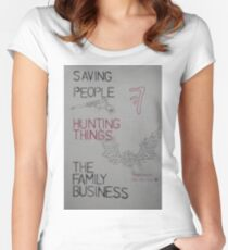 saving people, hunting things, the family business Women's Fitted Scoop T-Shirt