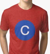 C Train Official Subway Logo Tri-blend T-Shirt