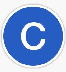 C Train Official Subway Logo Sticker