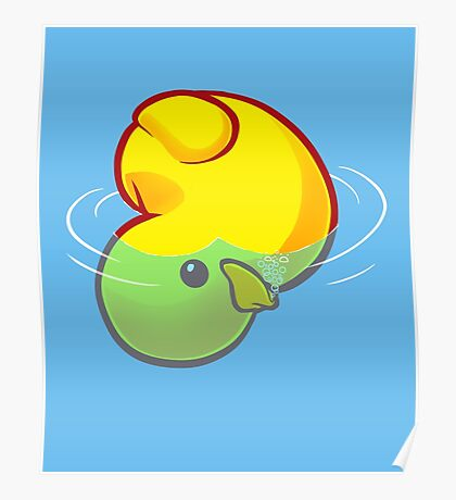 Drowning Rubber Ducky Poster