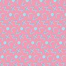 «Diseño de patrón rosa de los años 80 - años ochenta de la vendimia rosa azul colorido retro de los años noventa de los 90» de capsizx