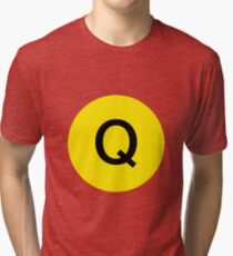 Q Train Official Subway Logo Tri-blend T-Shirt