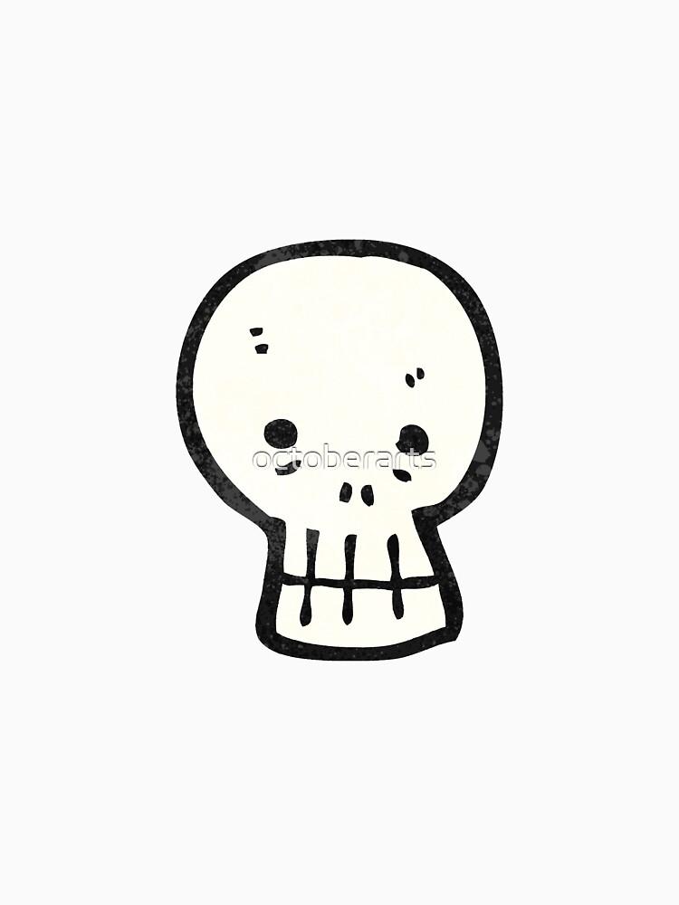 cartoon skull by octoberarts