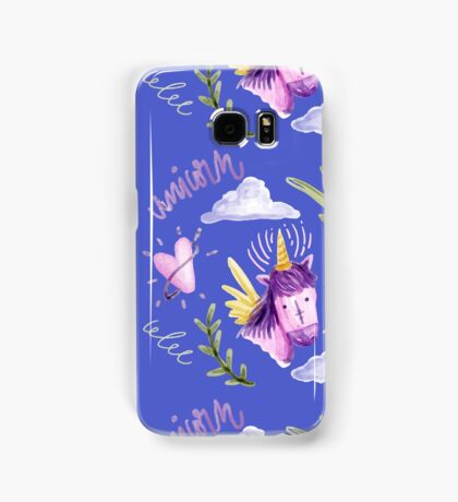 Cute watercolor unicorns Samsung Galaxy Case/Skin