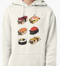 Sushi Pug Pullover Hoodie