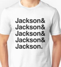 Jackson 5 list - black font Unisex T-Shirt