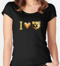 ROBUST INVADERS I LOVE BEARS Women's Fitted Scoop T-Shirt