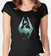 Skyrim landscape Women's Fitted Scoop T-Shirt
