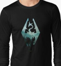 Skyrim landscape Long Sleeve T-Shirt