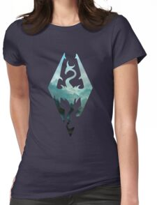 Skyrim landscape Womens Fitted T-Shirt