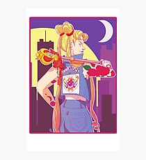 Punk Sailor Moon  Photographic Print