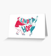 Lindy hop - Swing out  Greeting Card